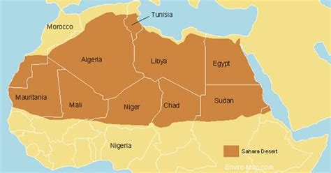 map of africa deserts desert map maps and africa the