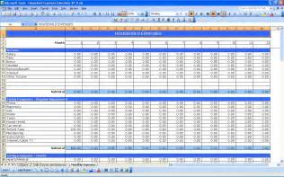 Monthly Expenses Template Excel household expenses excel templates