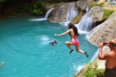 swinging in jamaica blue hole sea palms villas ocho rios jamaica wi
