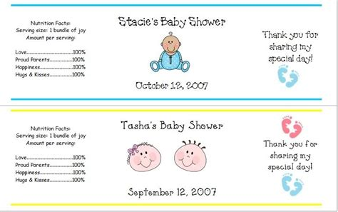 Water Bottle Labels For Baby Shower by Labels Quotes Quotesgram