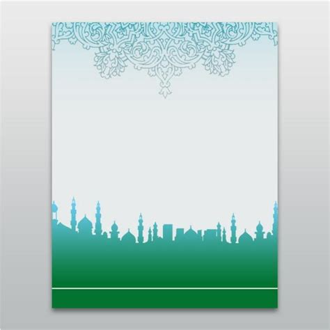 islam ramadhan mubarak lantern mosque background template