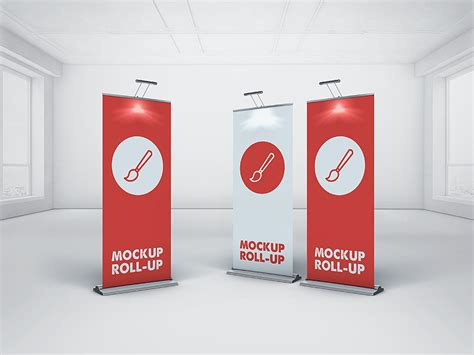 images of roll it up roll up banner mockup by piotr szmiłyk dribbble