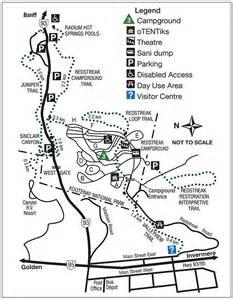 springs canada map parks canada kootenay national park maps