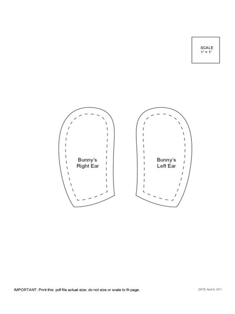 bunny ear template   templates   word excel