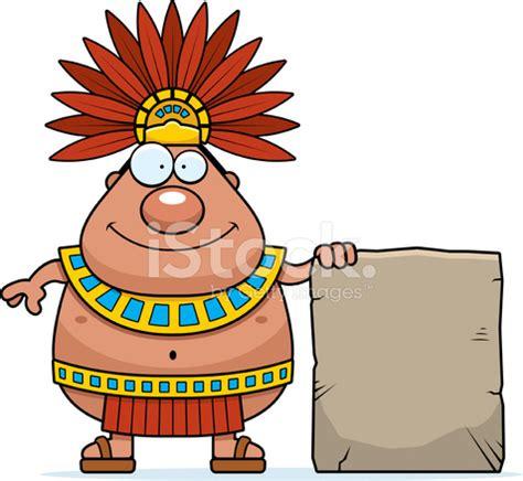 imagenes de mayas animados cartoon aztec king sign stock vector freeimages com