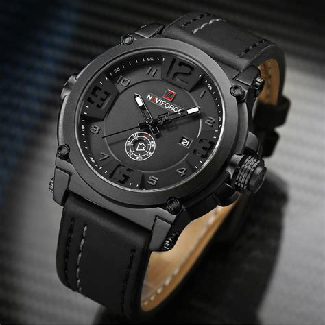 naviforce mens watches top brand luxury sport quartz
