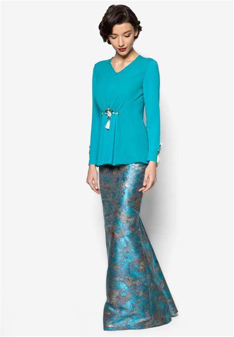 Pakaian Wanita Baju Terusan Blue Fashion Modern katarina baju kurung jovian mandagie for zalora baju kurung moden baju kurung