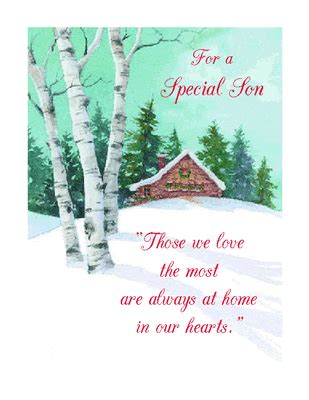 special son greeting card christmas printable card american