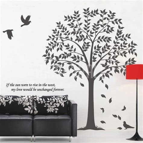 bird and tree wall stickers linden tree birds wall decals wall stickers canada