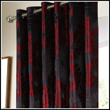 Black And Red Curtains For Bedroom Silver And Black Damask Curtainshome Design Ideas