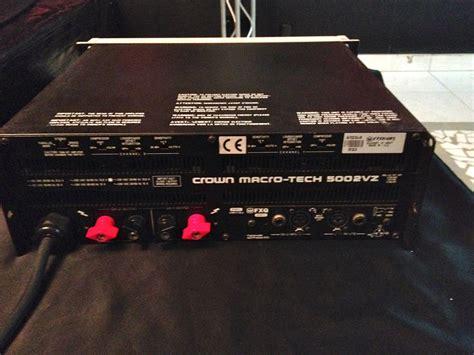 Power Crown Macro Tech 5002 Vz crown ma 5002 vz image 807378 audiofanzine
