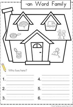 best photos of preschool house template my family in 1000 images about word families on pinterest word