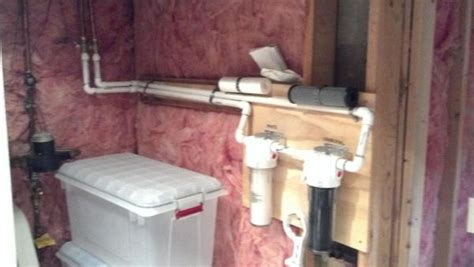 supporting whole house water filters with pex or stay