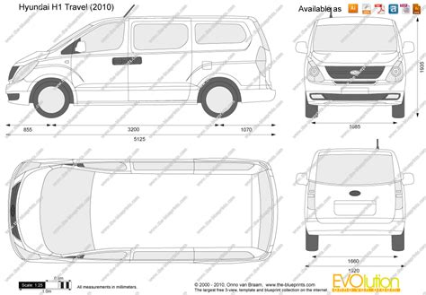 H Drawing Size by The Blueprints Vector Drawing Hyundai H1 Travel