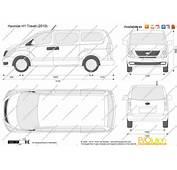 The Blueprintscom  Vector Drawing Hyundai H1 Travel