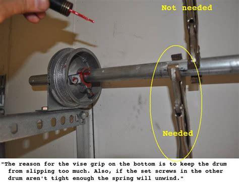 Garage Door Torsion Upgrade Update To The Quot Lessons Learned Quot Garage Door Torsion