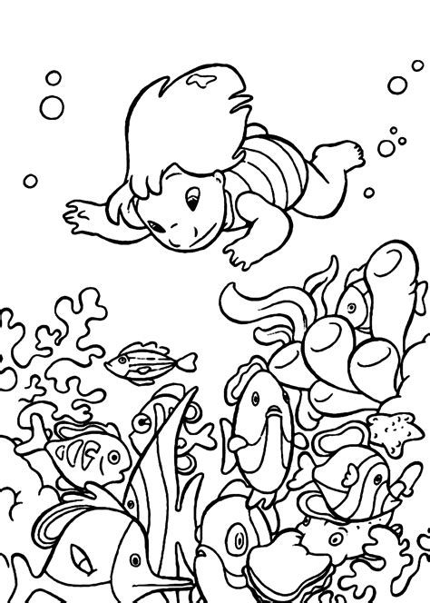 underwater coloring pages coloring home