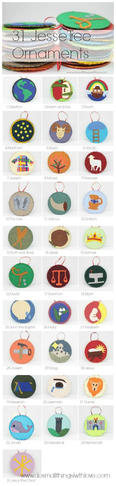 31 jesse tree ornaments patterns do small things with love