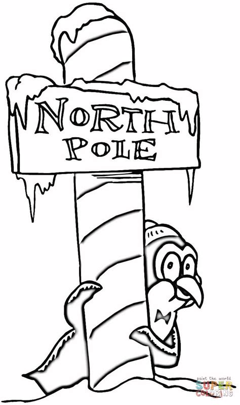 christmas north pole coloring free printable coloring pages