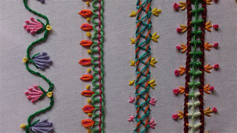 Handmade Embroidery Stitches - embroidery stitches tutorial for beginners part 3