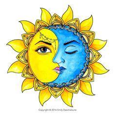 imagenes del sol y luna juntos resultado de imagen para mandala sol y luna significado