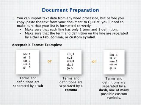 slide layout quizlet quizlet import doc
