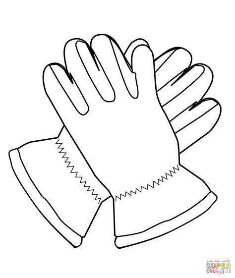 coloring pages winter gloves gloves coloring page free printable coloring pages
