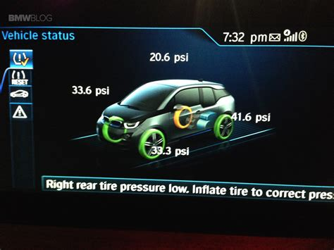 run flat warning light bmw flat tire on bmw i3 tpms comes to rescue