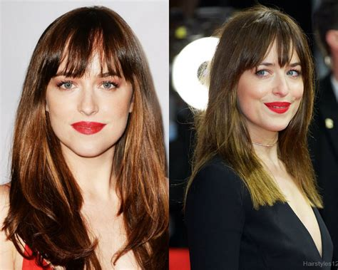 Hairstyles With Bangs 2017 by Inspiration Dakota Johnson Hairstyles 2017