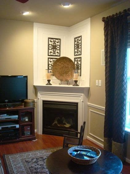 1000 ideas about corner fireplace mantels on