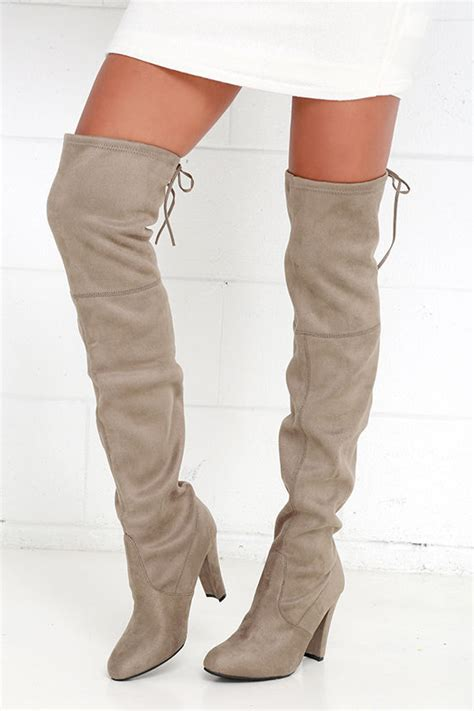 taupe the knee suede boots steve madden gorgeous boots taupe suede boots the