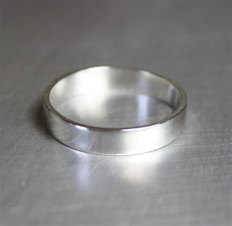 simple ring plain silver ring silver band by
