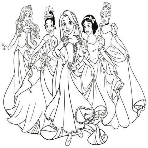 imagenes para colorear de princesas dibujos de princesas disney para colorear e imprimir