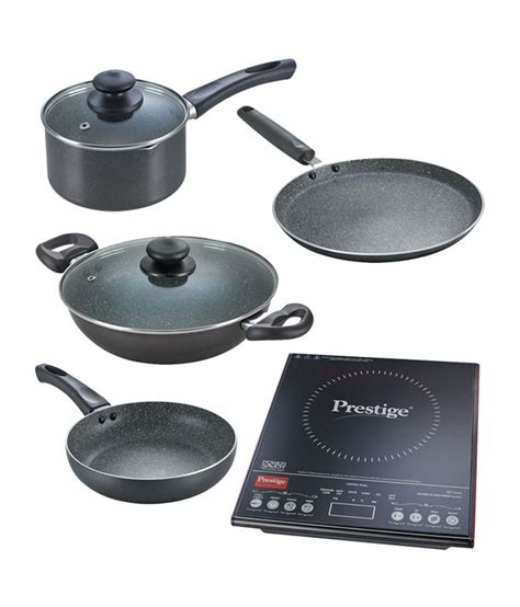 Cookware To Use With Induction Cooktop prestige pic 3 0 v3 induction cooktop with 4 cookware set ebay