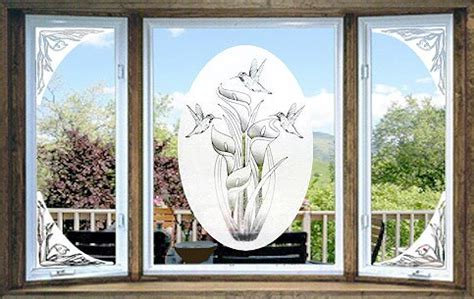 Decorative Window Decals For Home Etched Glass Decals Vinyl Etchings Vinyl Etched Glass Window Decals Corner Decals And Sidelite