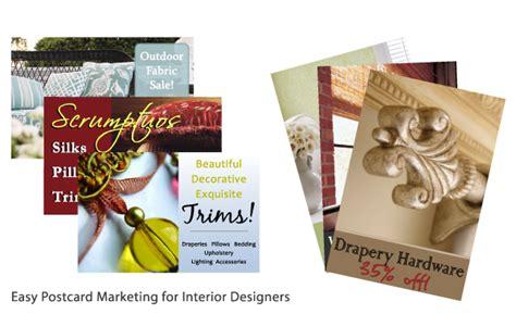 marketing for interior designers postcards high dollar designer
