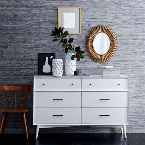 mid century style white dresser grasscloth covered dresser 2017 grasscloth wallpaper