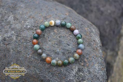 Gelang Tasbih Batu gelang batu akik wanita indian agate 171 jual gelang tasbih
