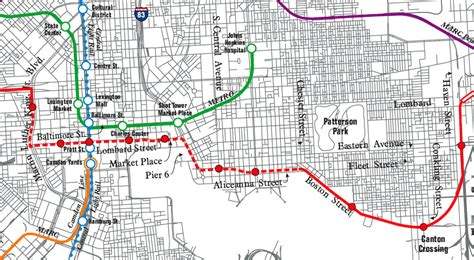 baltimore light rail map baltimore gears up for fight on red line transit plan