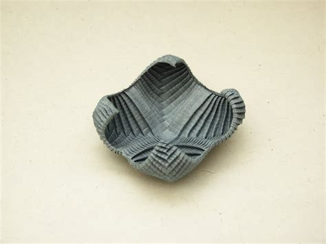 Paper Bowl Origami - organic origami gallery pureland or pleat tessellations