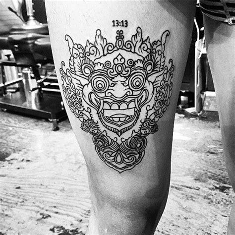 bali tattoo girl 16 fabulous balinese mask tattoos tattoodo