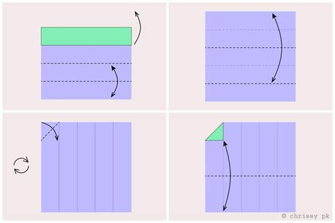 How To Fold Paper Into 10 Squares - how to fold square paper into fifths