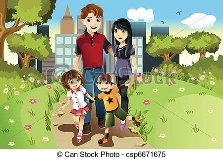 imagenes familias urbanas clipart vectorial de parque familia a vector