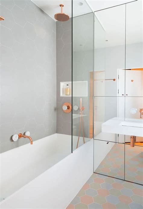 copper bathroom tiles 1000 ideas about hexagon tiles on pinterest tiling