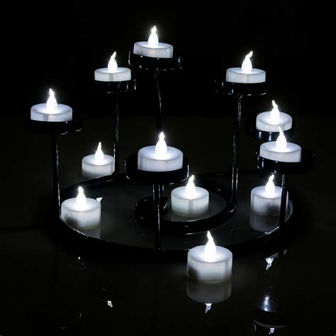 battery operated flickering lights 24 pcs led tealight battery operated flameless flickering