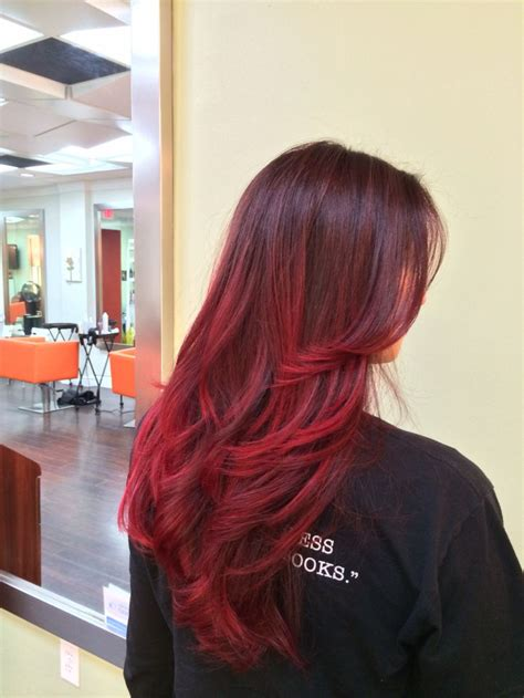 miami updos for women of color red balayage ombre by emilee at studio chroma miami