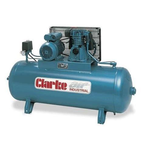 clarke se15c150 electric powered industrial air compressor ol 150l 3 0hp 240v 50hz