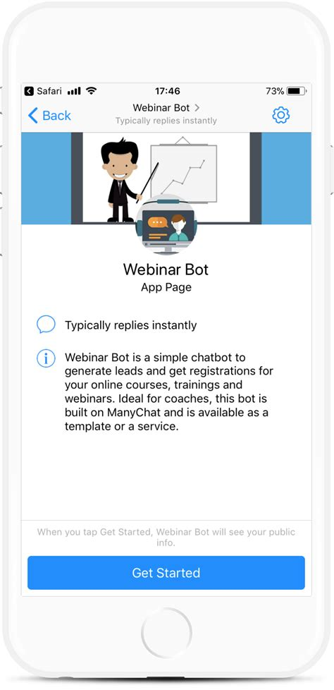 Webinar Registrations Bot Template For 99 Botmakers Chatbot Template