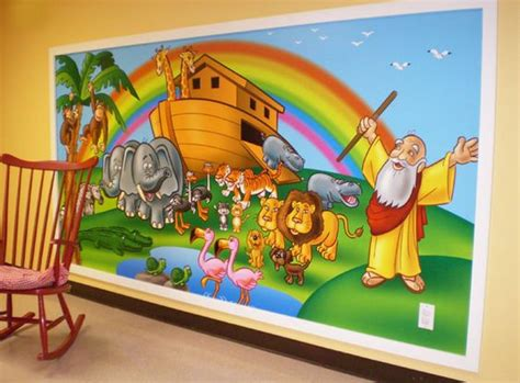 sunday school wall murals painting ideas for preschool sunday school room pictures bible story murals a tour through