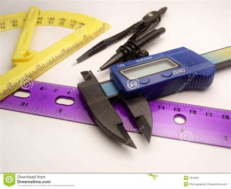 drawing tool with measurements drawing and measuring tools stock image image 7612031